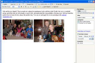 blog posting screen Bytesscout Post2blog